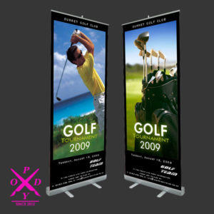 Roll up, sistem expozitional, productie publicitara pody roll up 300x300