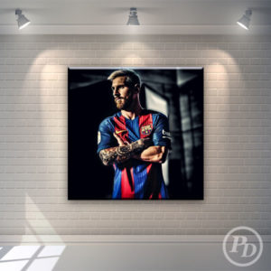 Tablouri canvas Lionel Messi, productie publicitara pody messi 300x300