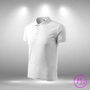 Tricouri polo simple, textile personalizate tricou polo alb 00 300x300