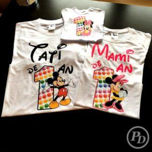 Tricouri aniversare family, personalizare textile tricouri 1 an 300x300