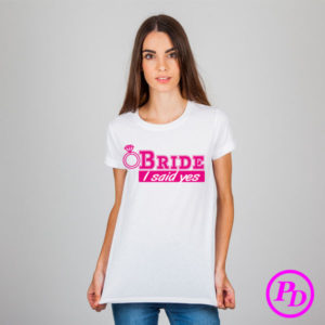 Tricou Bride, textile personalizate tricou bride 300x300