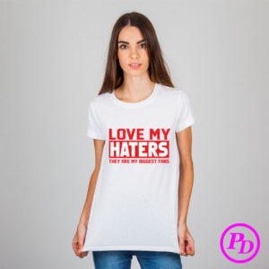 Tricou Haters girl, textile personalizate tricou haters girl 300x300